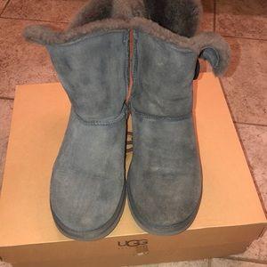 UGG Bailey button grey boots